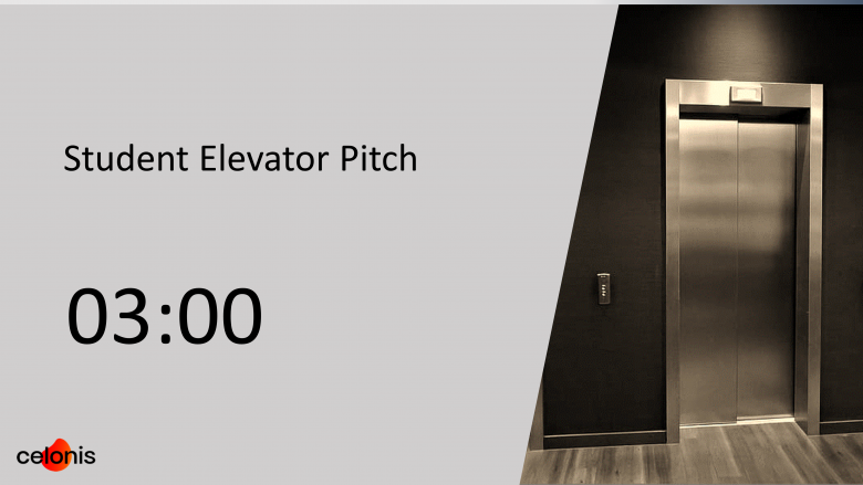 Student elevator pitch